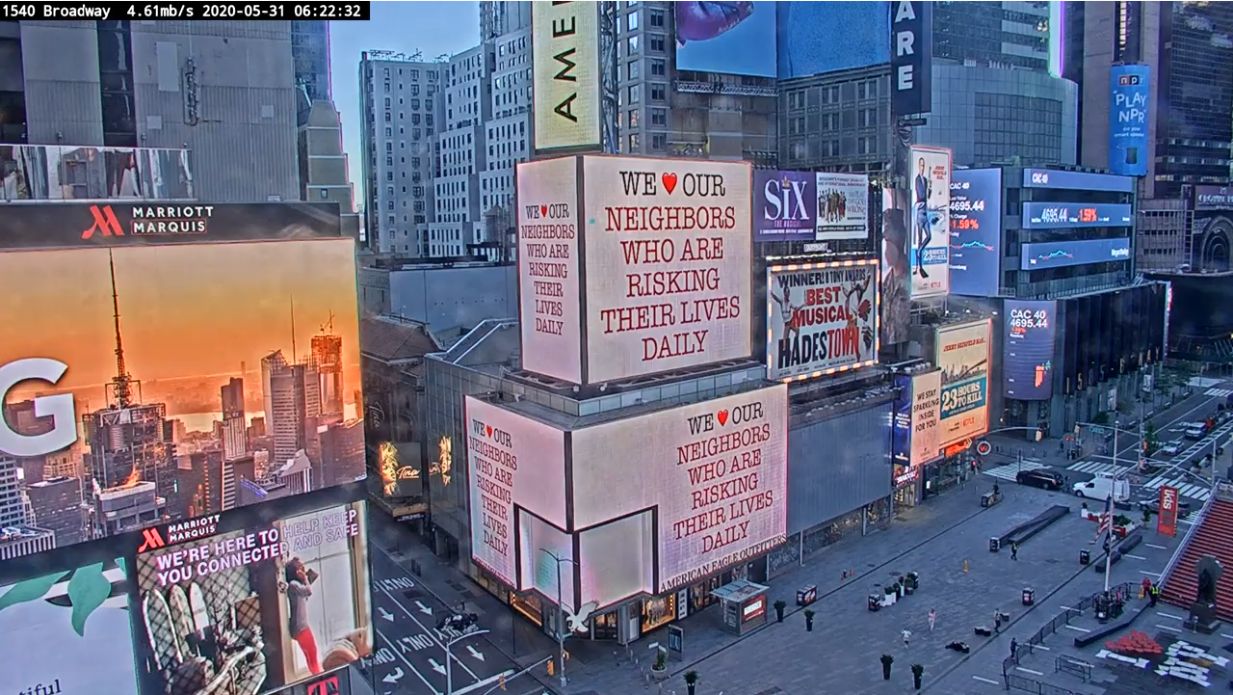 Times Square 1540 Broadway View Live