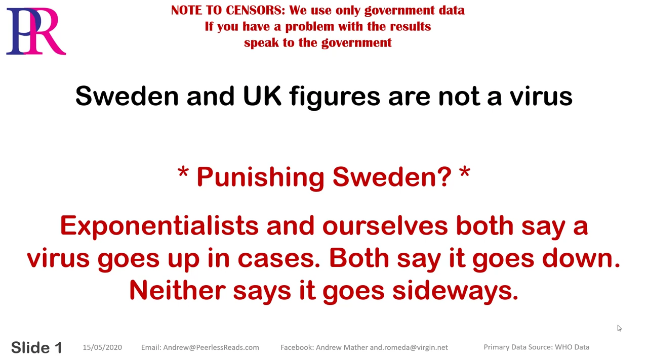 Peerless Reads Covid-19 Bizarre figures from Sweden and the UK