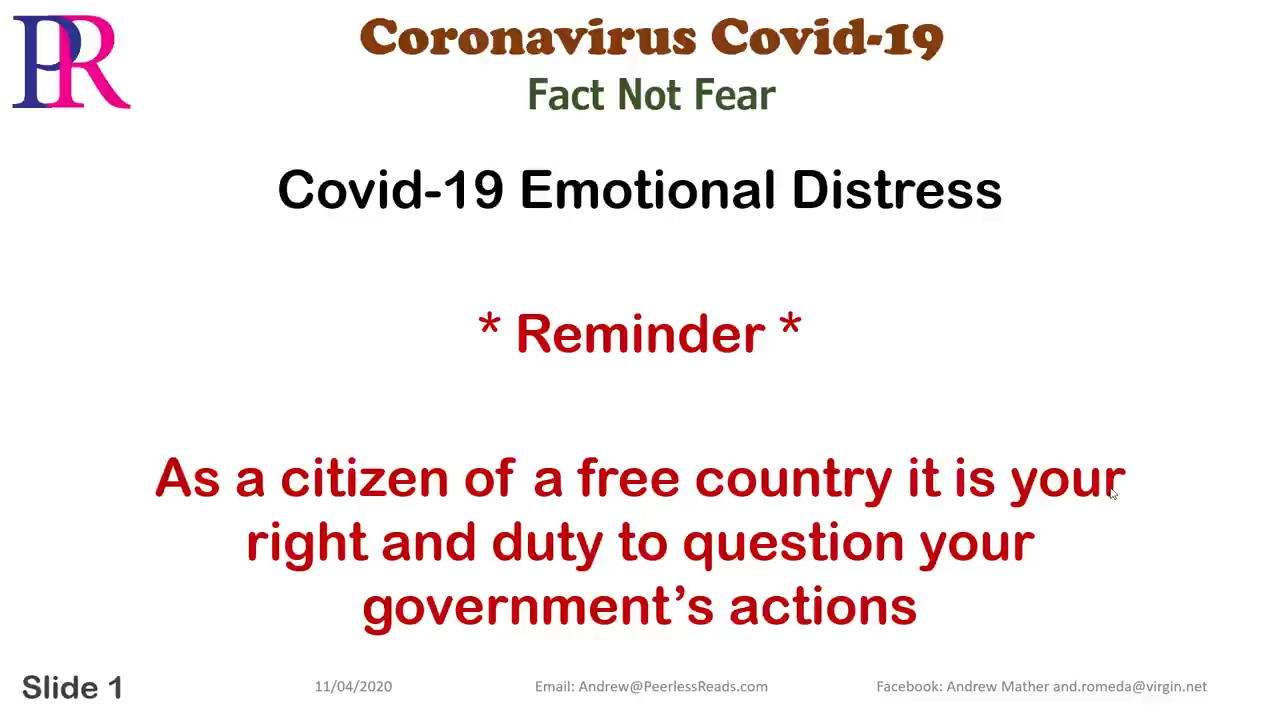 Peerless Reads Covid-19 Emotional Distress – The Marshall Scam