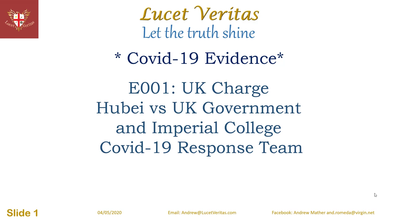 Peerless reads Covid-19 Evidence 001 The First Lie March 3rd Estimate