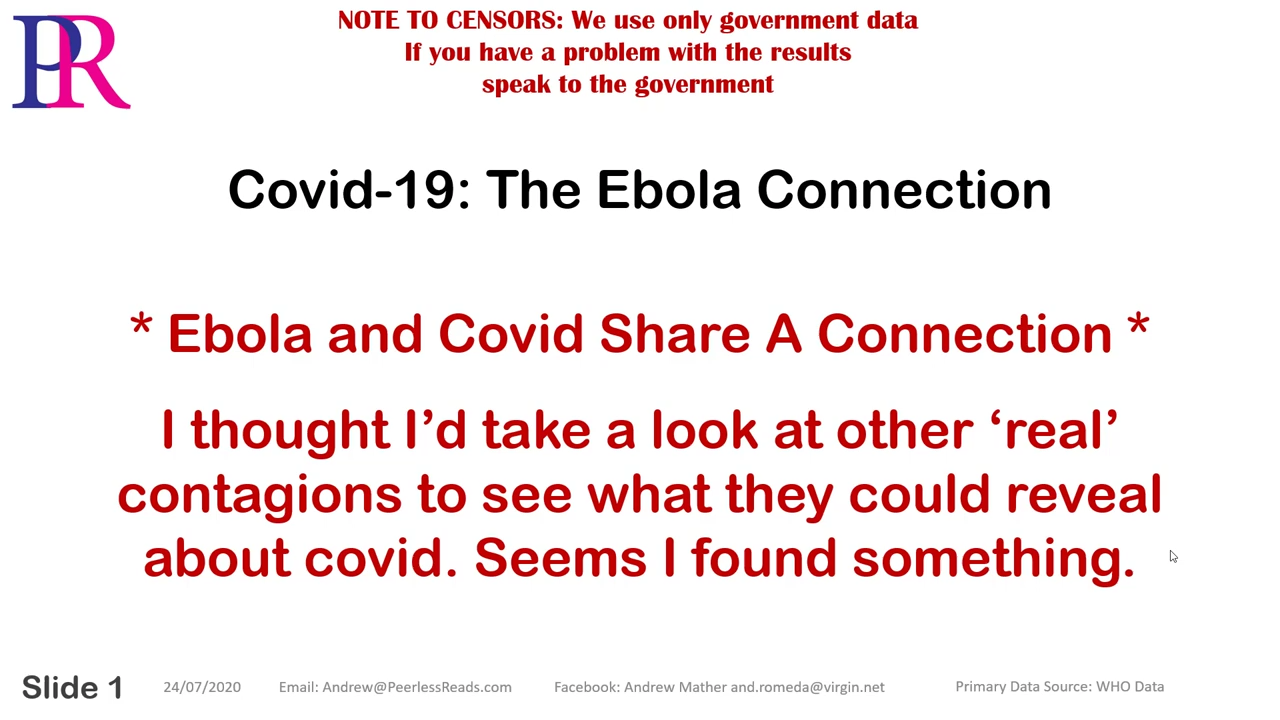 Covid-19 – The Ebola Connection 24-7-2020