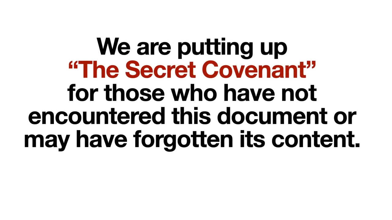 The Secret Covenant Unveiled 13-8-2020