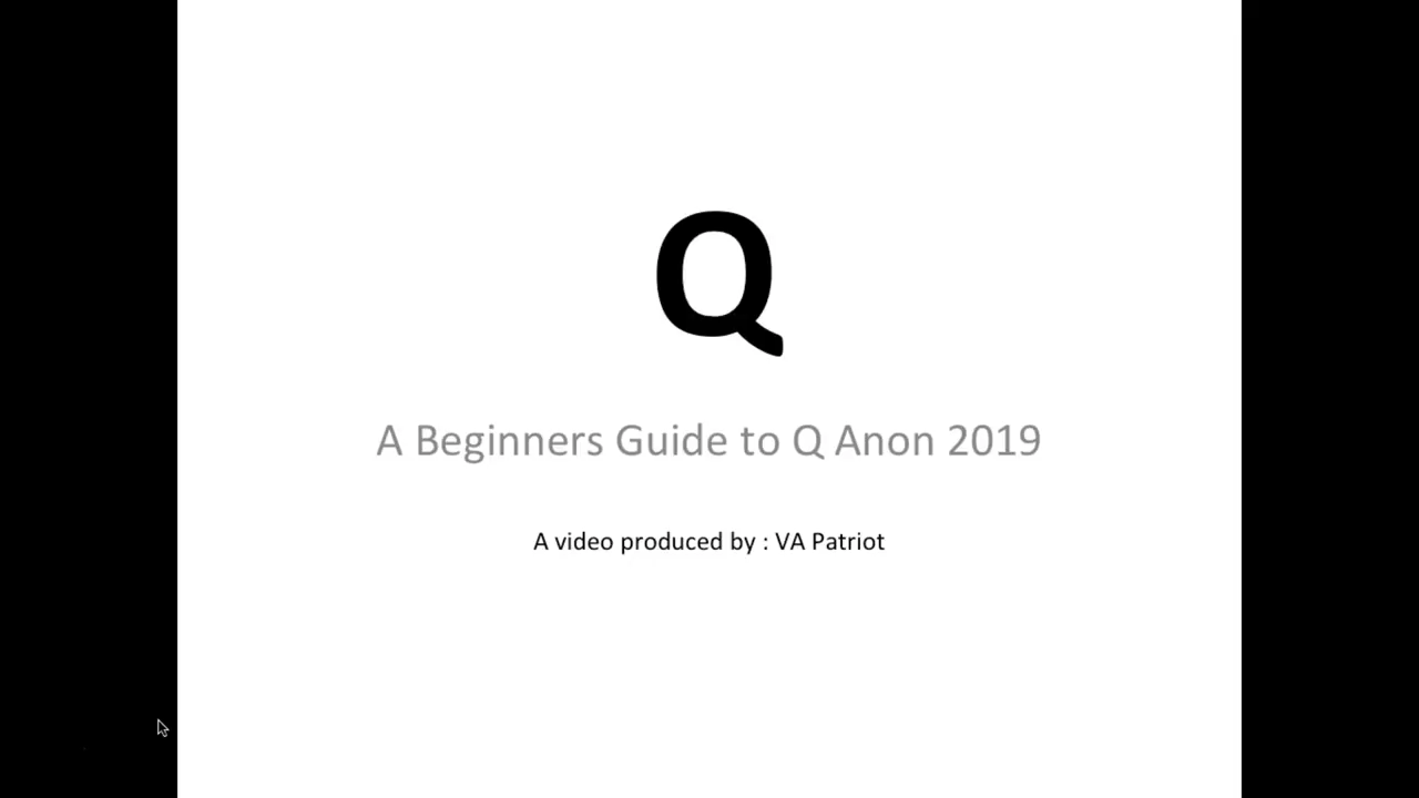 WHAT IS Q ANON? – A Beginners Guide to Q Anon 2019 16-3-2019