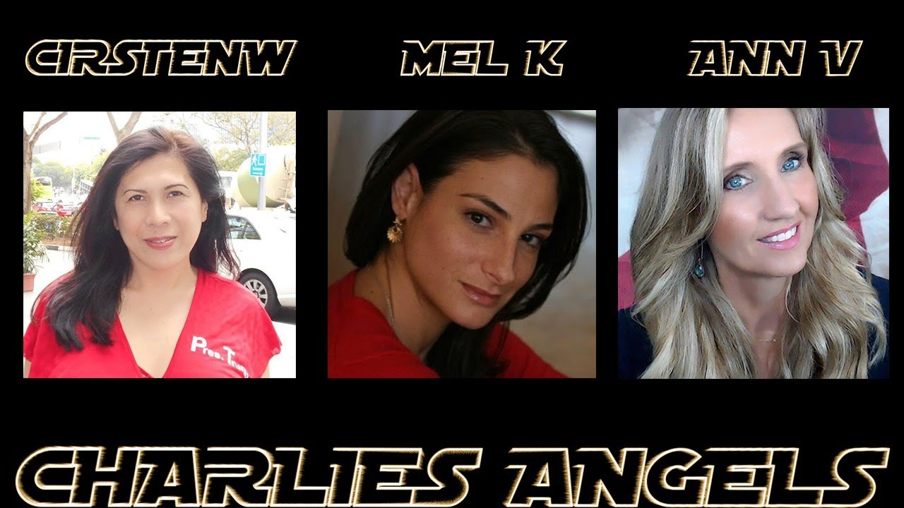 CirstenW and Mel K with Ann Vandersteel are Charlie's Angels 26-9-2020