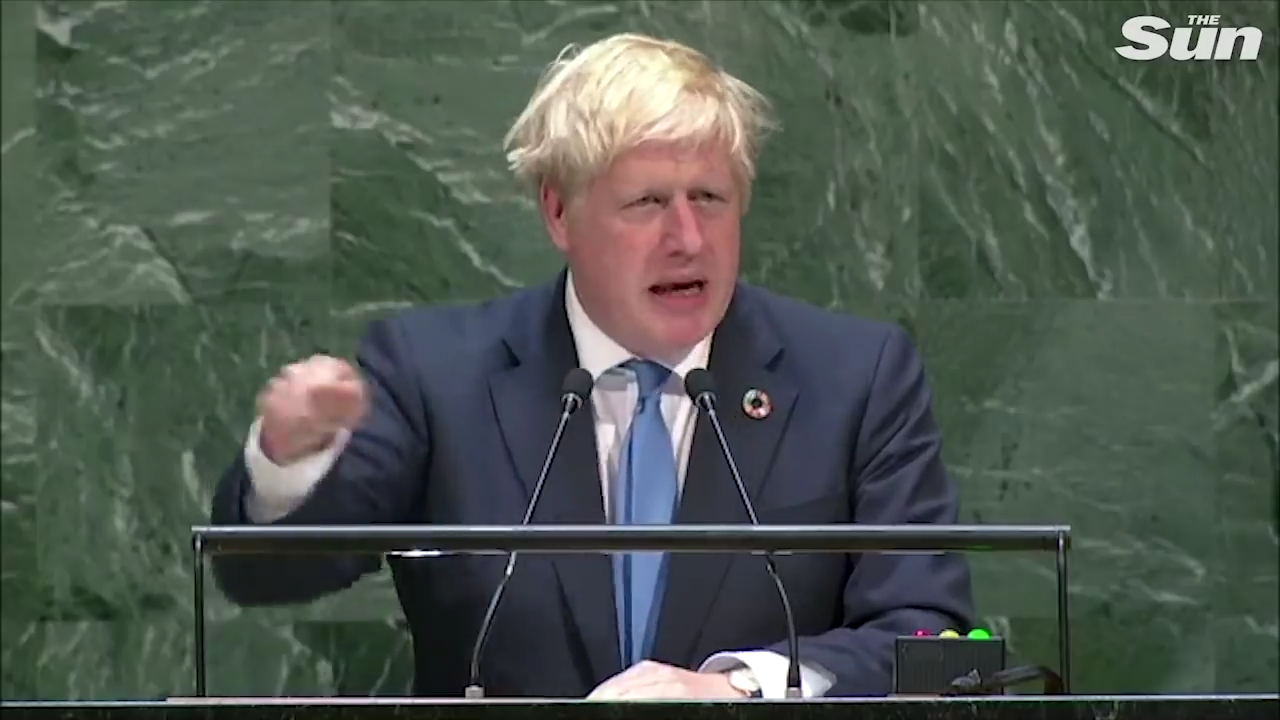Boris Johnson gives bizarre speech about technology to the UN 25-9-2019