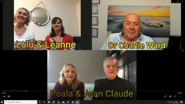 Jean Claude, Paola, Lulu, Leanne With Dr Charlie Ward 6-11-2020