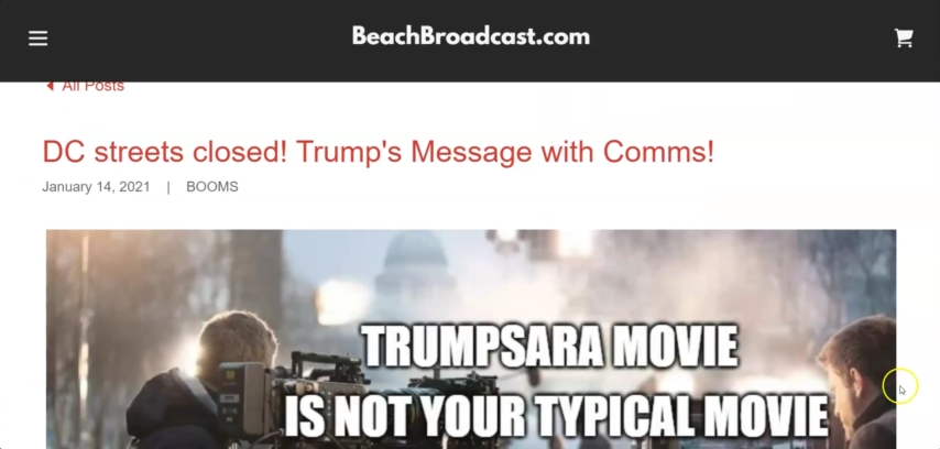 1/14/2021 – DC streets closed! Trump's Message with Comms! 14-1-2021