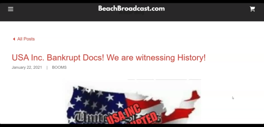 1/22/2021 – USA Inc. Bankrupt Docs! We are witnessing History! 22–1-2021