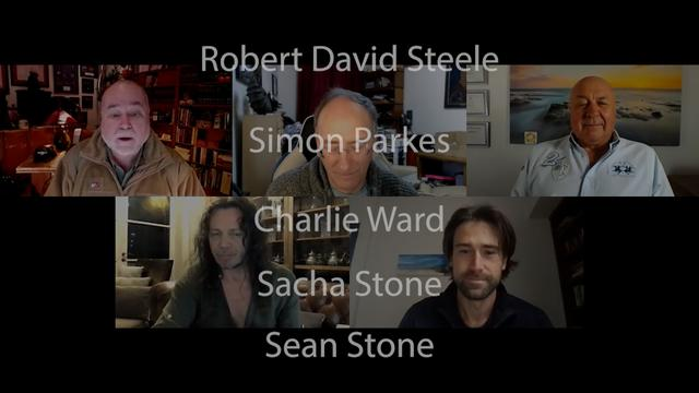 Robert David Steele, Simon Parkes, Charlie Ward, Sacha Stone and Sean Stone 25-1-2021