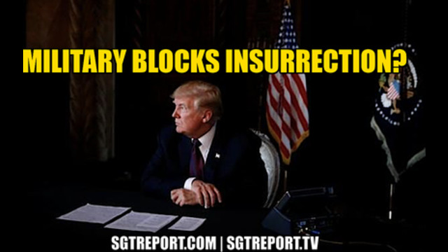 U.S. MILITARY BLOCKS INSURRECTION? 24-1-2021