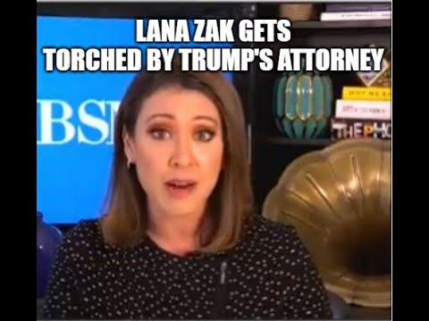2/13/2021 Trump's Attorney torches Lana Zak in an interview! She ended the interview! 19-2-2021