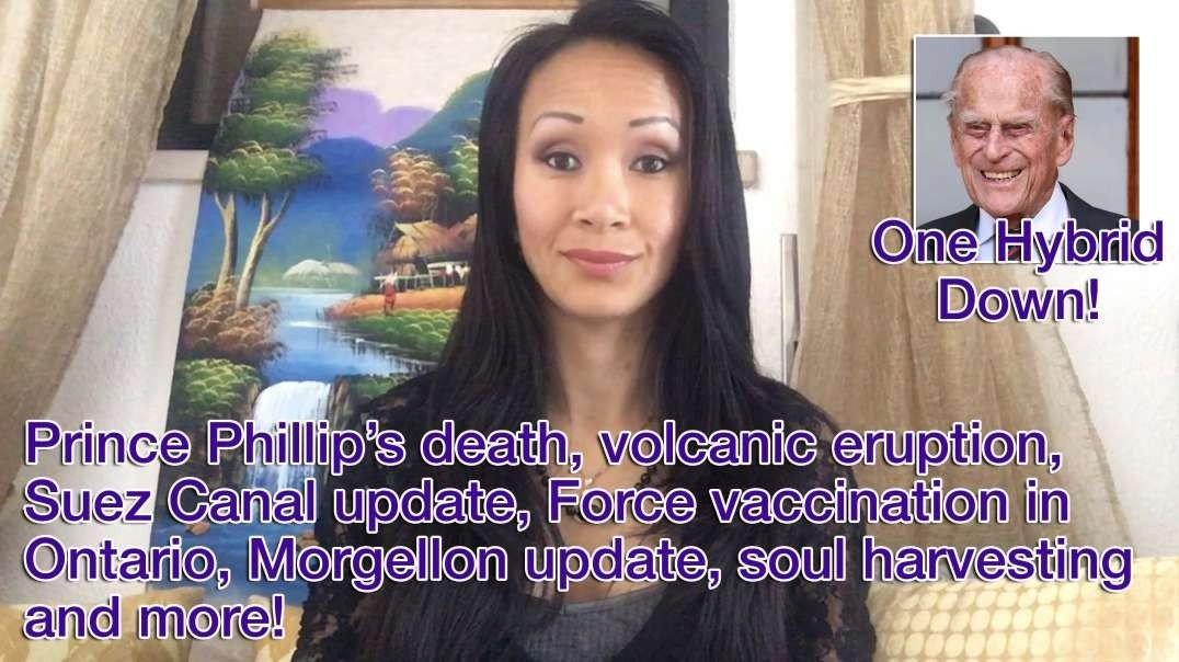 Prince Phillip's death, volcanic eruption, Suez Canal update, Force vaccination in Ontario, Morgellon update, soul harvesting and more! 11-4-2021