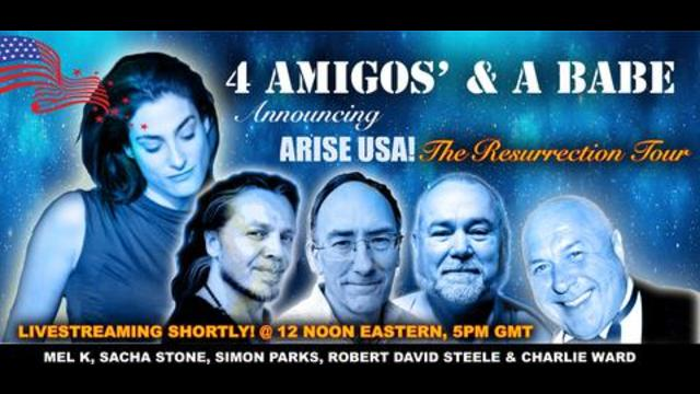 THE 4 AMIGOS & A BABE – DONT MISS THE ARISE USA! 29-4-2021
