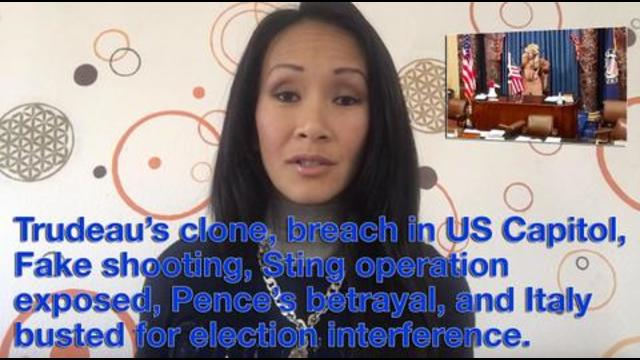 Trudeau's clone, breach in US Capitol, Fake shooting, Sting operation exposed, Pence's betrayal, an 10-1-2021