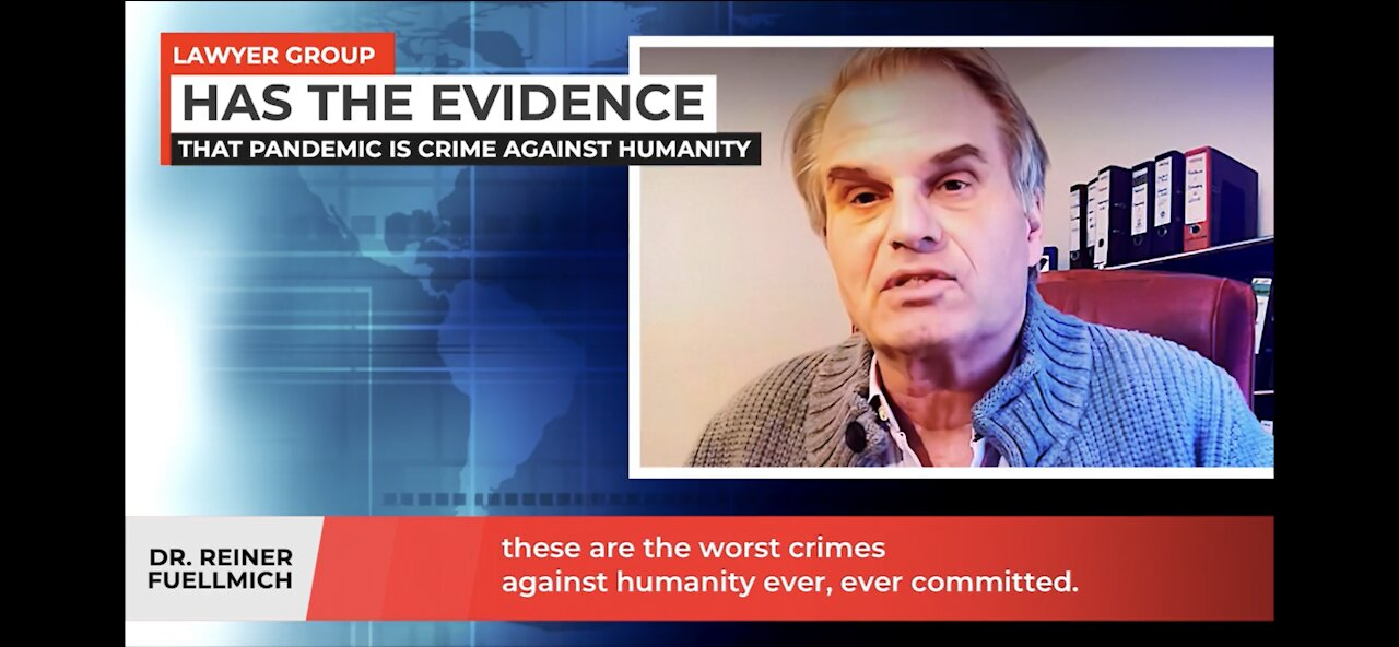 Dr Reiner Fuellmich, international lawyer has all the evidence that pandemic is crime 1-5-2021