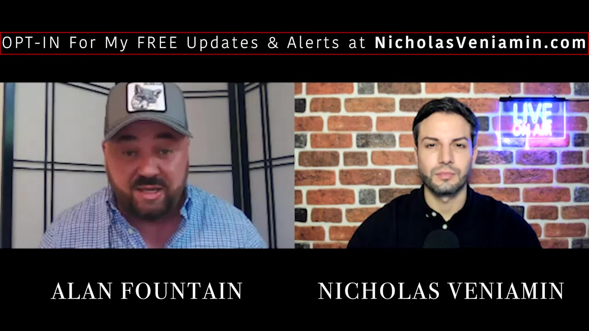 Alan Fountain Discusses Truth Coming Out with Nicholas Veniamin 27-5-2021