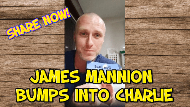 JAMES MANNION BUMPS INTO TO CHARLIE 31-5-2021