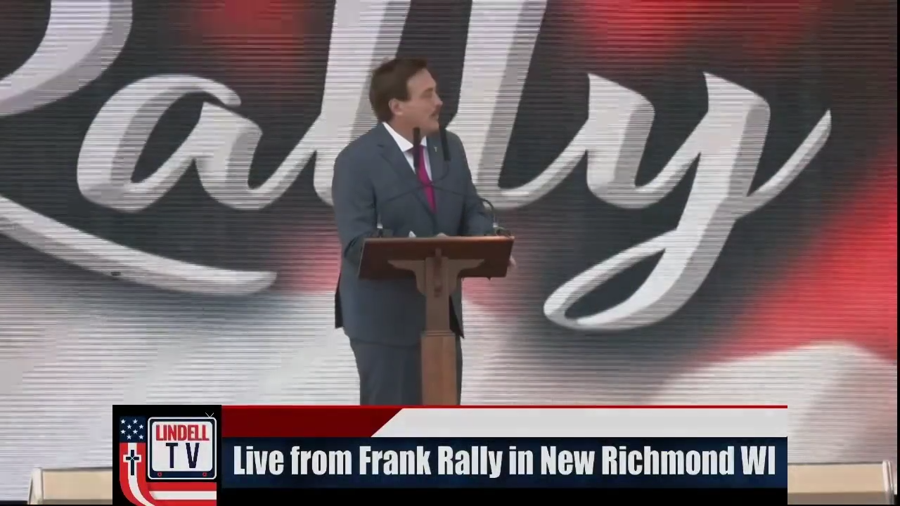 Mike Lindell Speaks at MAGA FRANK Rally in New Richmond WI