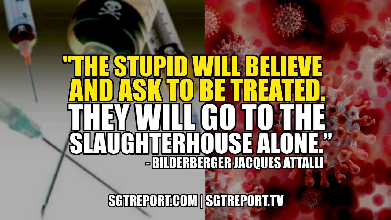 """""""THE STUPID WILL BELIEVE & ASK TO BE TREATED. THEY'LL GO TO THE SLAUGHTERHOUSE ALONE."""" 10-6-2021"""