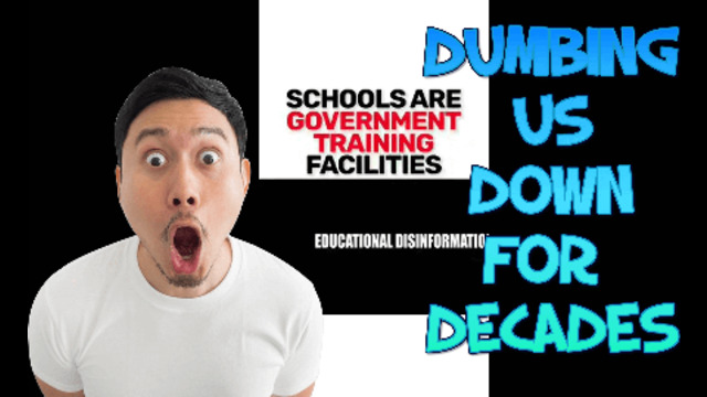 THEY'VE BEEN DUMBING US DOWN FOR DECADES SCHOOL THE GOVERNMENT TRAINING CENTRE 19-6-2021