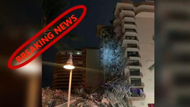 """Was South Florida Attacked? – """"Inspector"""" on the roof yesterday? False Flag? (Real collapse footage) 24-6-2021"""