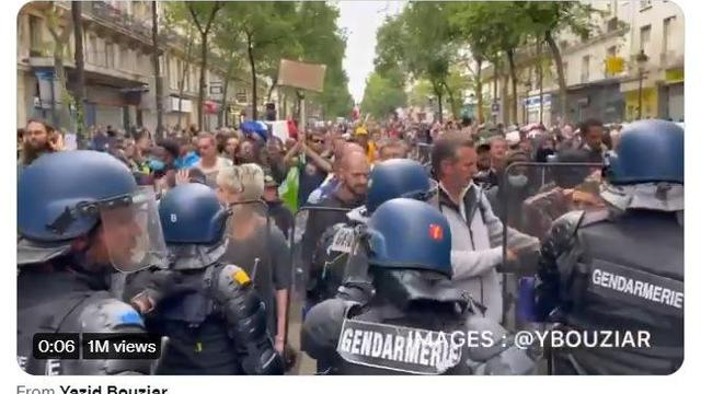 All Over France, The People Clash With Police In Defiance of Tyrannical VACCINE MANDATES – LIBERTY! 16-7-2021