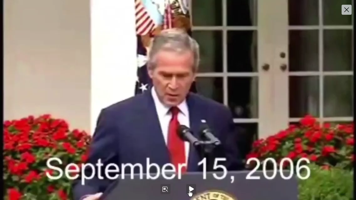 George W. Bush Admits Explosives Used In 911
