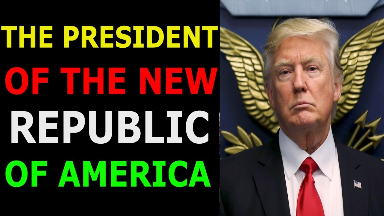 TRÜMP! THE PRESIDENT OF THE NEW REPUBLIC OF AMERICA 10-7-2021