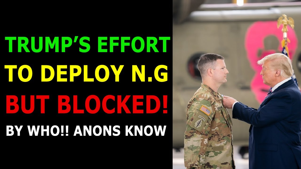 TRUMP'S EFFORT TO DEPLOY NATIONAL GUARD BUT BLOCKED! BY WHO!! ANONS KNOW 10-7-2021