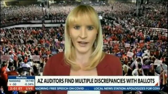 """Trump Spokeswoman on AZ Audit: """"A Crime Was Committed on Nov. 3rd – This Election Never Certified"""" 17-7-2021"""