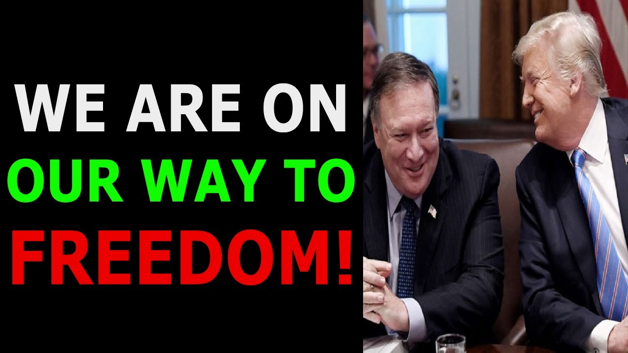 WE ARE ON OUR WAY TO FREEDOM! POMPEO ON FIRE AT GETTR! 10-7-2021
