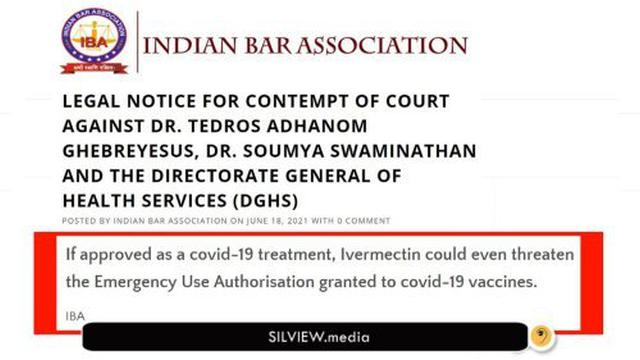 WHO chiefs face DEATH SENTENCE in India for medical misinformation on Ivermectin & HCQ 13-7-2021