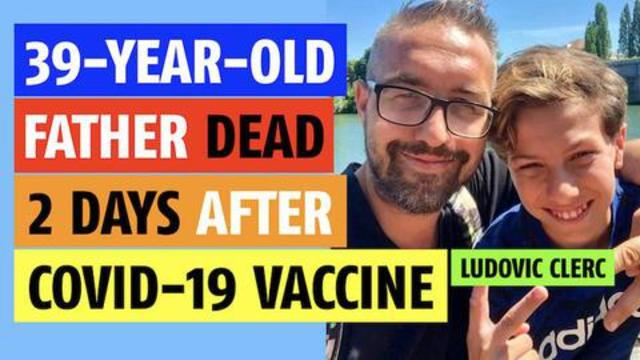 39 and 40. 39 years old dead in 40 hours…father dead 2 days after C0VID vaccine 14-8-2021