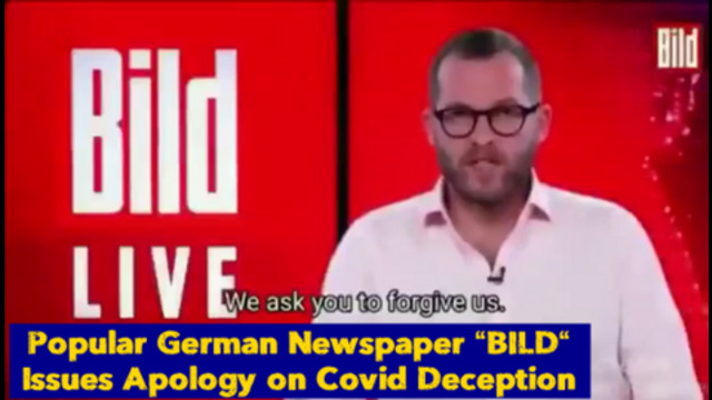 """A Popular German Newspaper named """" Bild """" Issues a Public Apology on the Covid Deception 2-8-2021"""