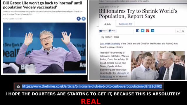 BILL GATES BOLSHEVIK BILLIONAIRES AND THE DEPOPULATION VACCINES, THE DANGER IS ABSOLUTELY REAL! 12-8-2021