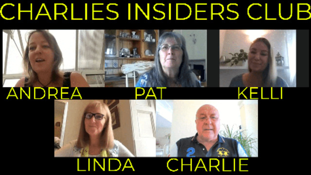 CHARLIE CATCHES UP WITH THE INSIDERS CLUB MEMEBERS 20-8-2021
