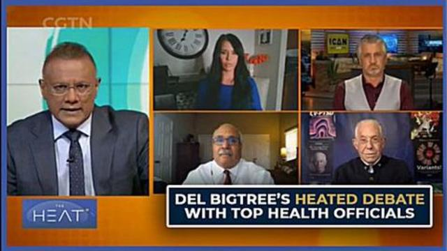 DEL BIGTREE'S HEATED DEBATE WITH TOP HEALTH OFFICIALS Lying to people again 14-8-2021