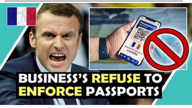 EXPOSED !! FRANCE BUSINESS'S REFUSE TO ENFORCE PASSPORTS !! GO FRANCE !! MUST WATCH !! 18-8-2021