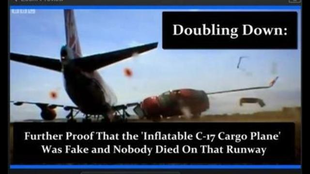 Further Proof That The 'Inflatable C-17 Cargo Plane' Was Fake & Nobody Died on That Runway in Kabul 26-8-2021
