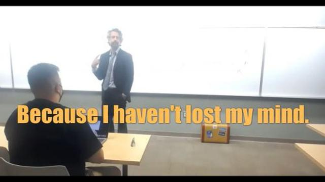 Law Professor REFUSES to MASK UP or get the JAB 20-8-2021