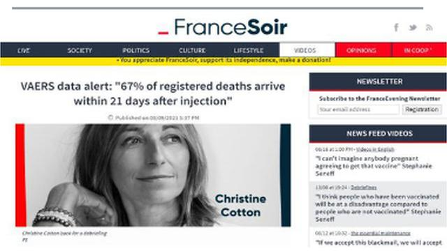 REVEALED !! MS. CHRISTINE COTTON OF FRANCE JUST PRODUCED AN AMAZING AND WORTHY VAERS ANALYSIS ! 17-8-2021