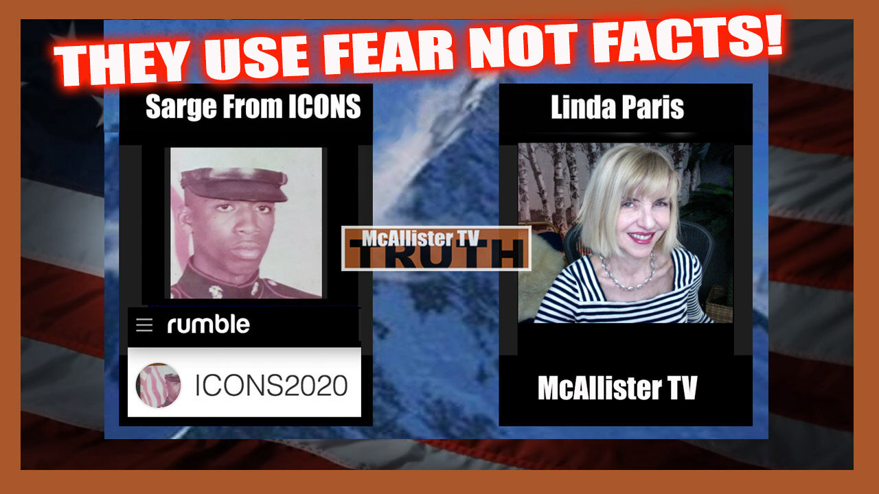 SARGE FROM ICONS! THEY USE FEAR NOT FACTS! LAWFUL VS LEGAL! REPTILIAN HOLOGRAMS! 24-8-2021