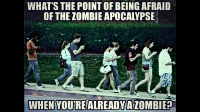 Are you merging with your cell phone? Are you turning into a cell phone zombie mutant? 9-9-2021