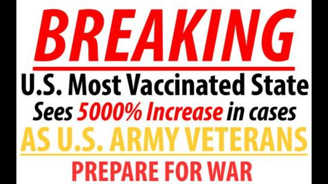 BREAKING: MOST VACCINATED STATE (VT) 5000% INCREASE IN CASES – U.S. VETS PREPARE FOR WAR WOWWWW 23-9-2021
