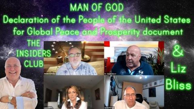 MAN OF GOD — Declaration of the People of the United States for Global Peace and Prosperity 6-9-2021