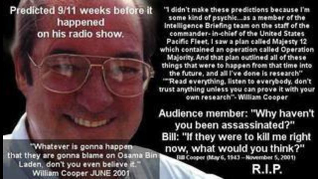 REMEMBER BILL COOPER the MAN who PREDICTED 911 3 months early and not to BLAME OSAMA BIN LADEN 10-9-2021