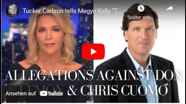 """Tucker Carlson tells Megyn Kelly """"There's No Question"""" Chris Cuomo is Getting Fired 27-9-2021"""