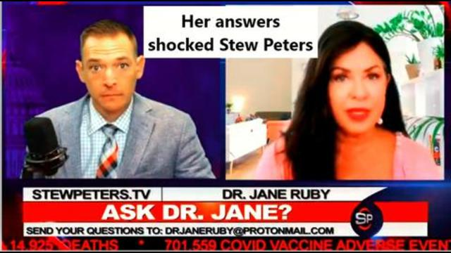 Why do some get sick from the jab and others do not. Dr. Jane Ruby answers that question and more 24-9-2021