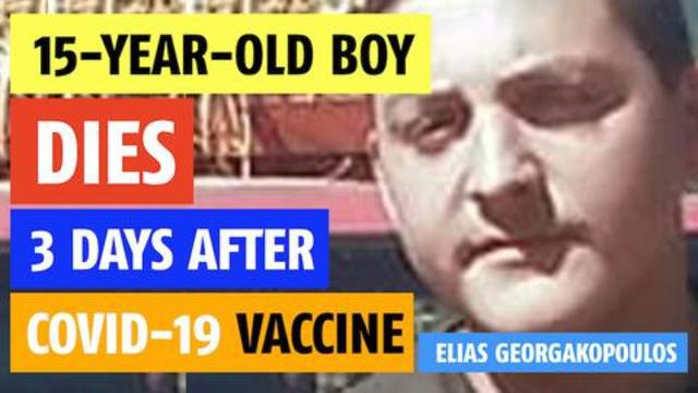 15-year-old boy dies 3 days after the kill shot. They were warned not to mention the vaxxince 12-10-2021
