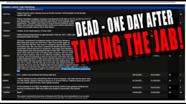 CDC'S OWN CRAZY LOOONG LIST OF PEOPLE WHO DIED LESS THAN 24 HOURS AFTER GETTING THE VACCINE !! 17-10-2021